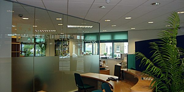 Building Refurbishment Project Completed Reception Area